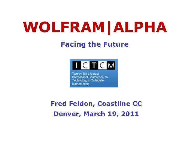 WolframAlpha ICTCM 2011