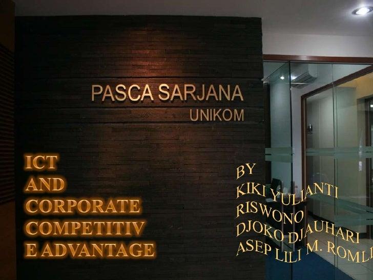 Ict & Corporate Competitive Advantage