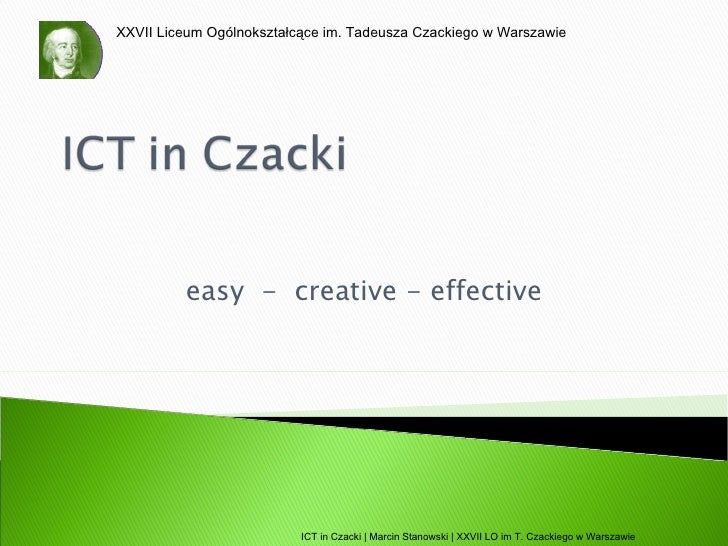 Ict in czacki - Bled Conference