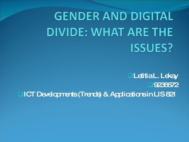 <ul><li>Letitia L. Lekay </li></ul><ul><li>9236672 </li></ul><ul><li>ICT Developments (Trends) & Applications in LIS 821  ...
