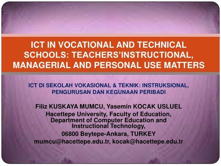 Ict di sekolah vokasional & teknik