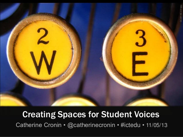 CCBY-NC2.0bitziCreating Spaces for Student VoicesCatherine Cronin • @catherinecronin • #ictedu • 11/05/13