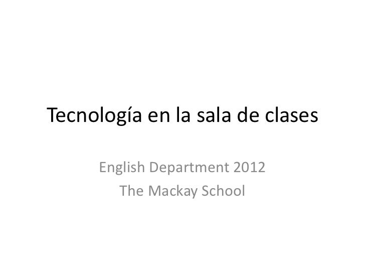 Ict, english department 2012