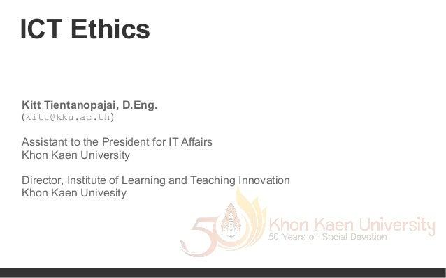 ICT Ethics