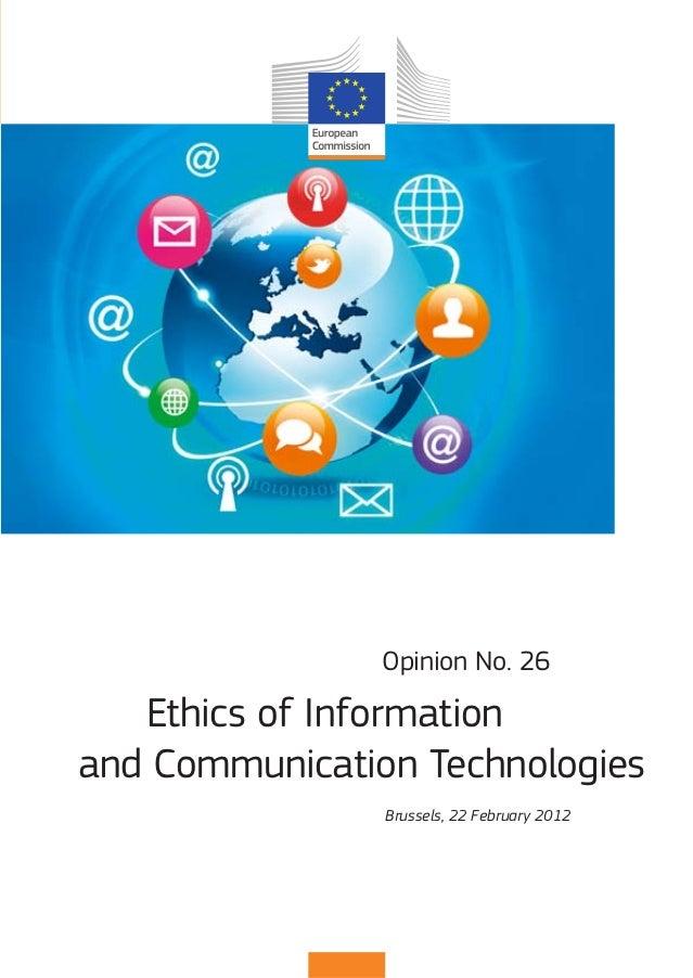 NJ-AJ-12-026-EN-C                                  Ethics of Information and Communication Technologies                   ...