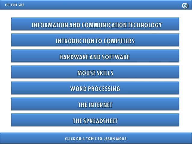 INFORMATION AND COMMUNICATION TECHNOLOGY FOR SENIOR HIGH SCHOOL