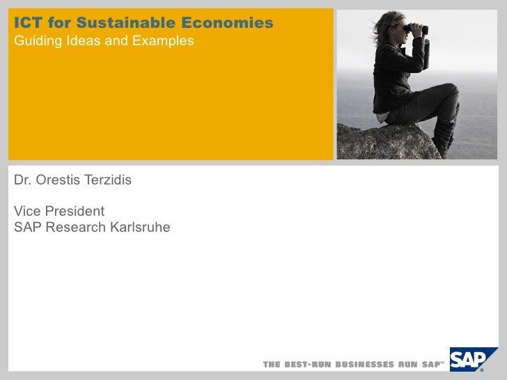 Ict For Sustainable Economies- Dr. Terzidis - Digibiz'09