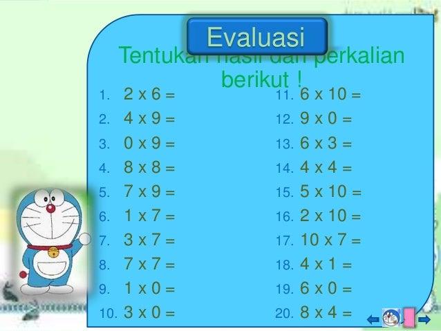 Perkalian Bilangan Untuk Kelas 2 Sd