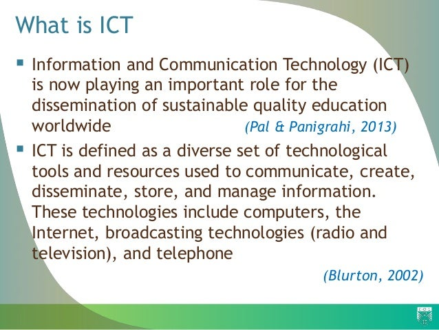 the role of ict information and communications technology essay The definitions and ideas applied to information and communication ict are playing a central role technology enthusiasts who believe that ict will.