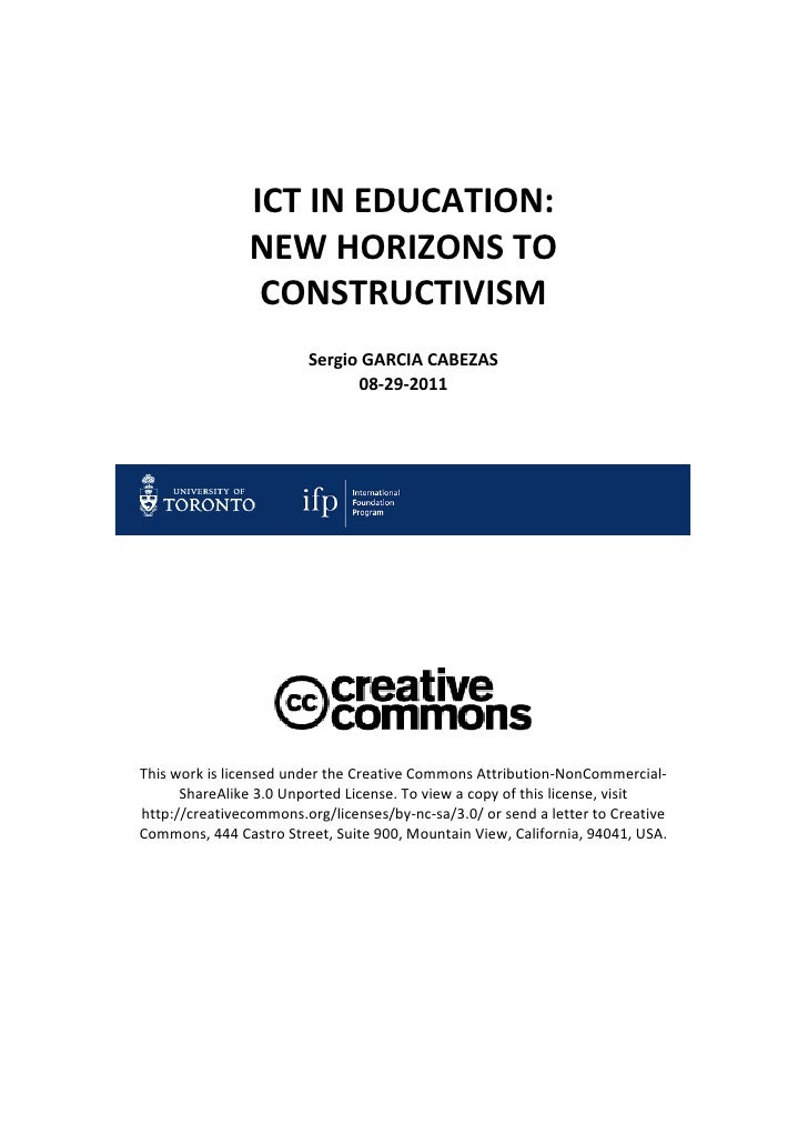 ICT in Education: New horizons to Constructivism