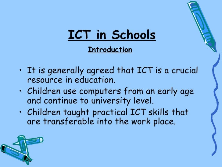 ict in school education It for schools november 2017 children need courses in computing and finance letters: bob epton and greg conway think back to computing and ict courses in the 1970s, declan wilkes offers financial education for young people.