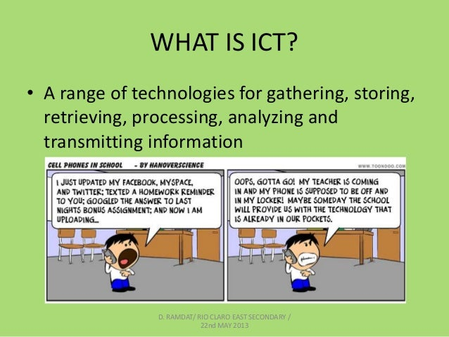 information communication technology Information and communications technology (ict) is an another/extensional term for information technology (it) which stresses the role of unified communications and.
