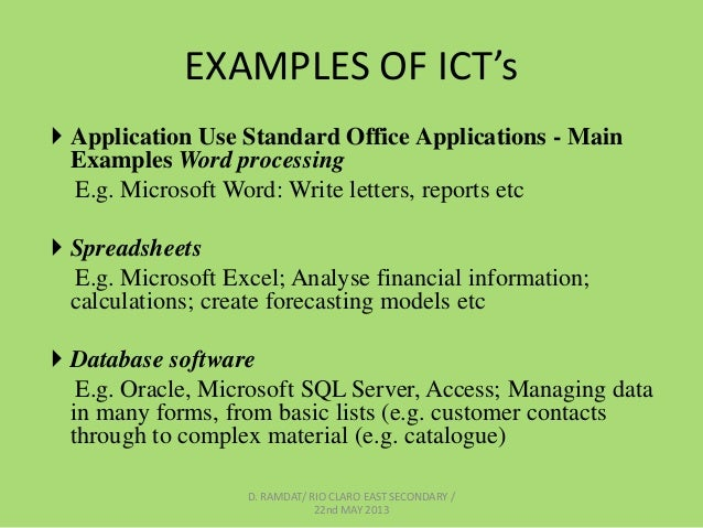 applications of ict in finance Therefore a closer look at the impact of ict in public financial management   example a visa application form can be filled when the applicant has a free time.