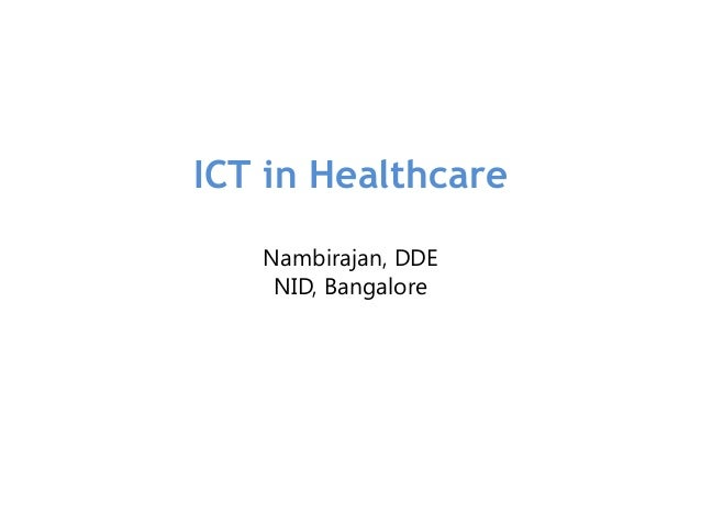 ICT in Healthcare Industry