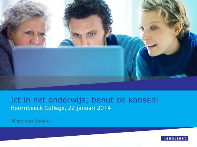 Ict in het onderwijs   sessie hoornbeeck college