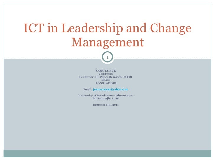 SASM TAIFUR Chairman Center for ICT Policy Research (CIPR) Dhaka BANGLADESH Email:  [email_address] University of Developm...