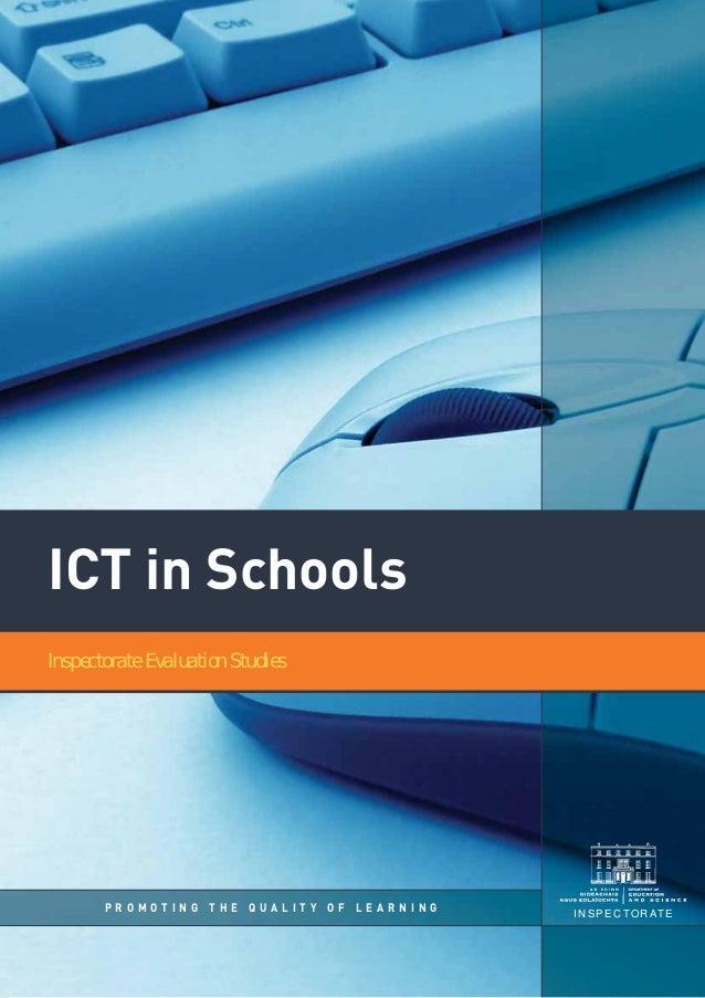 Ict in schools-inspectorateevaluationstudies2008
