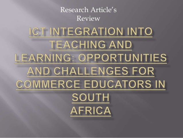 Ict integration into teaching and