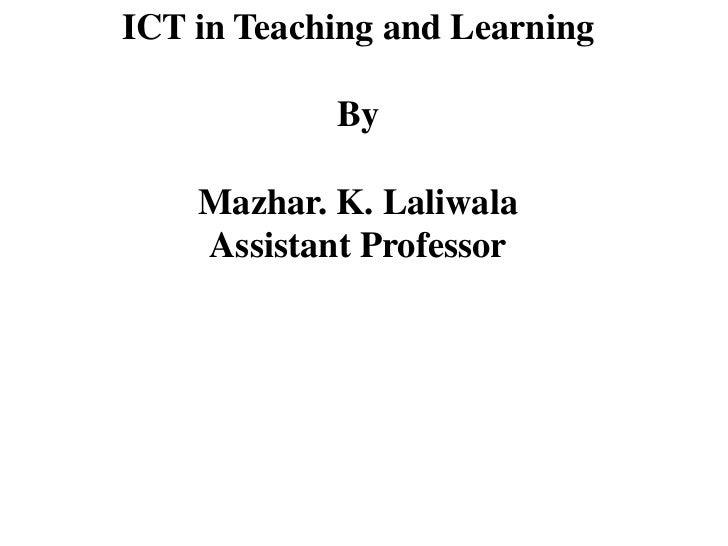 Ict in t&l
