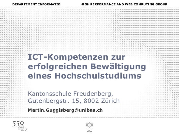 ICT-Kompetenzen fuer Studium