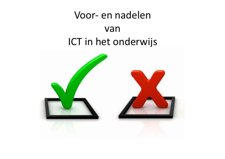 ICT in het Onderwijs | de voor- en nadelen