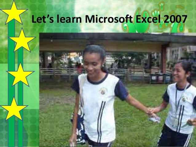 Let's learn Microsoft Excel 2007