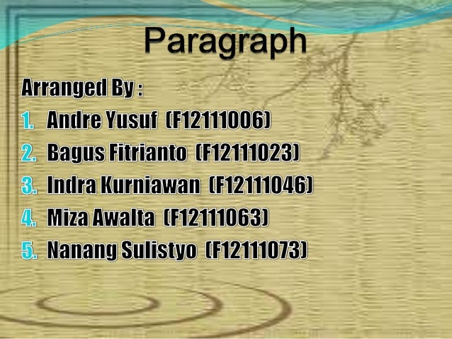What is a Paragraph?A paragraph is a seriesof sentences that areorganized and coherent, and areall related to a single top...