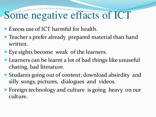 the use of ict essay Final written assignment - essay about output language learning with digital media.