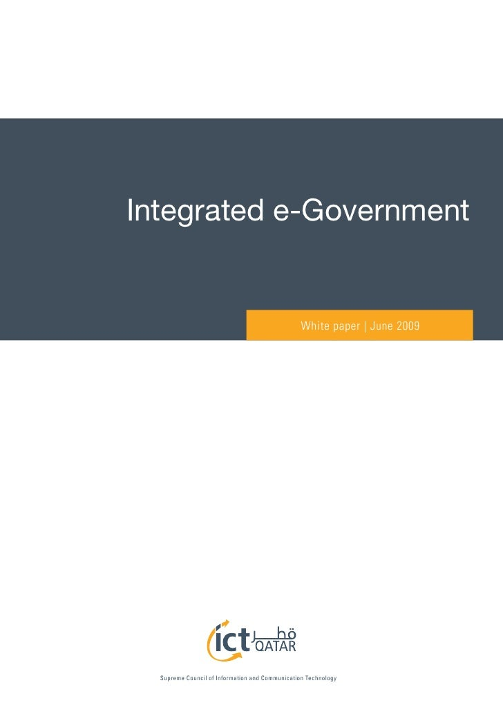 Integrated e-Government                                                    White paper | June 2009       Supreme Council o...