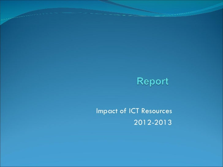 Ict report with feedback