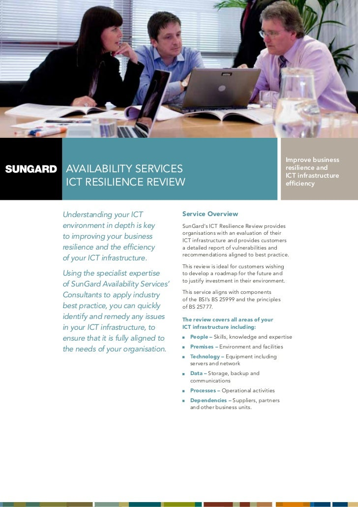 SunGard ICT Resilience Review