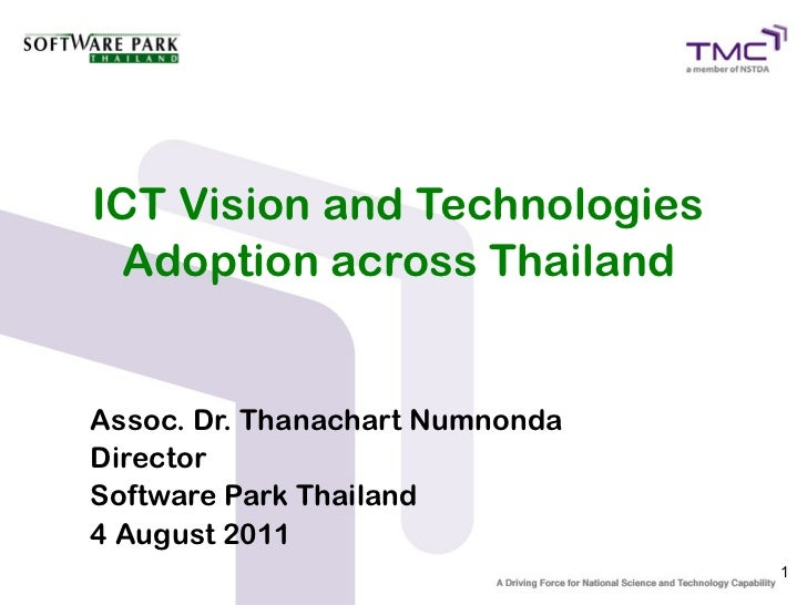 ICT Vision and Technologies Adoption across Thailand
