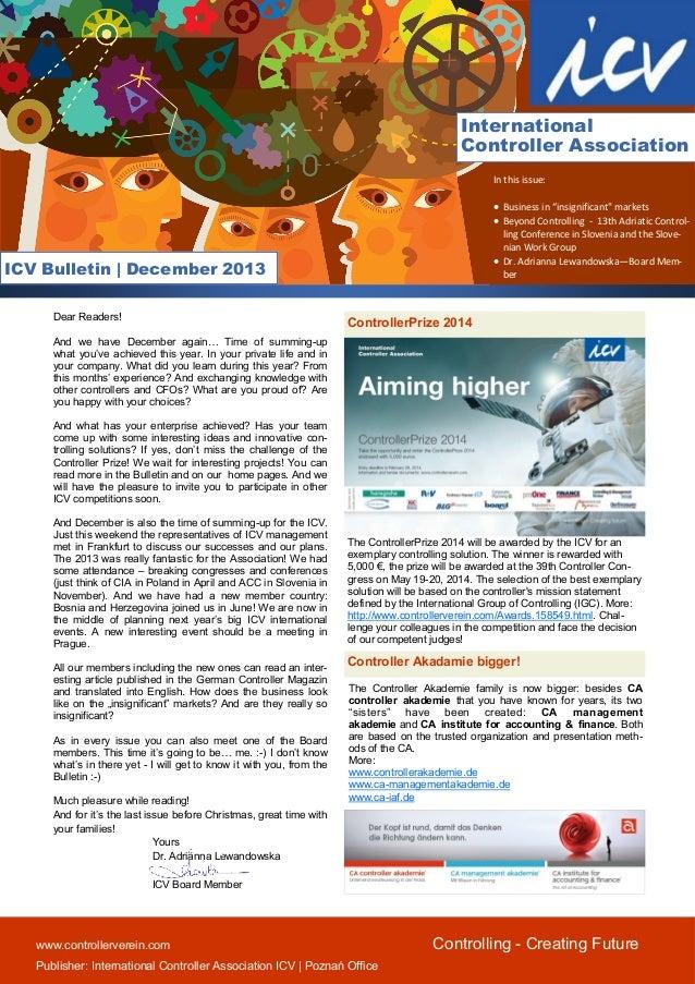 Icv bulletin december 2013