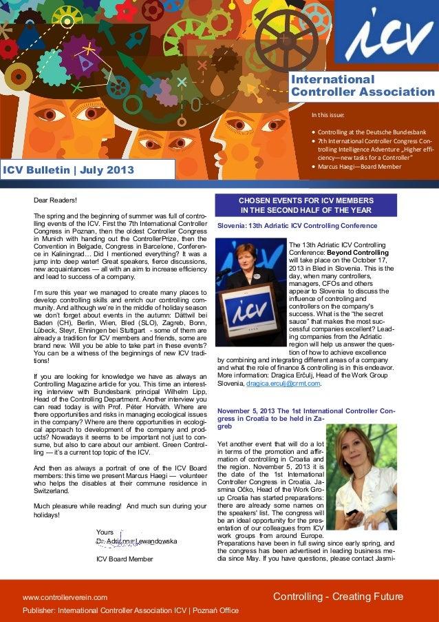 Icv bulletin july 2013