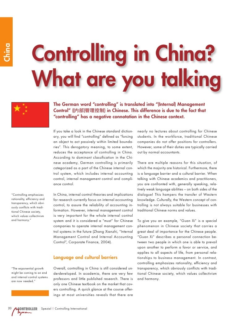 Controlling in China? China                         What are you talking                                      The German w...