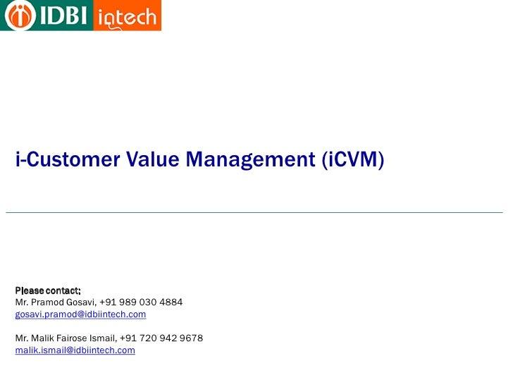 IDBI Intech - Customer Value Management