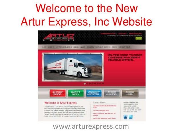 Welcome to the NewArtur Express, Inc Websitewww.arturexpress.com