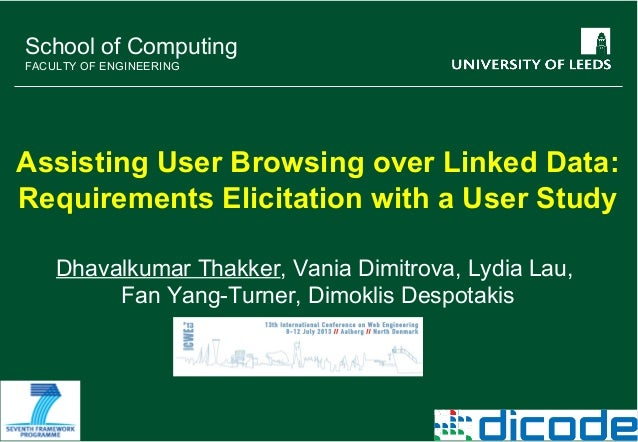 Assisting User Browsing over Linked Data: Requirements Elicitation with a User Study