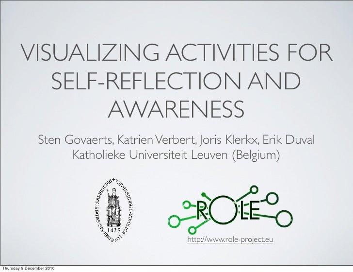 VISUALIZING ACTIVITIES FOR           SELF-REFLECTION AND                AWARENESS                Sten Govaerts, Katrien Ve...