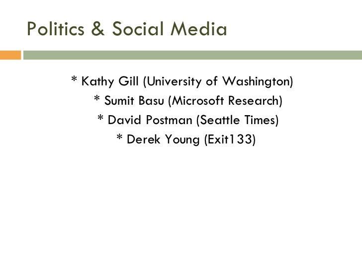 Icwsm Politics Panel
