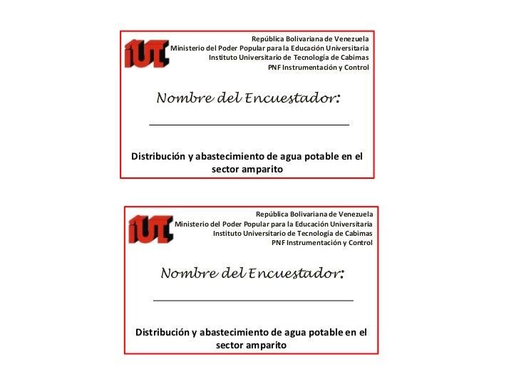 República Bolivariana de Venezuela <br />Ministerio del Poder Popular para la Educación Universitaria <br />Instituto Univ...