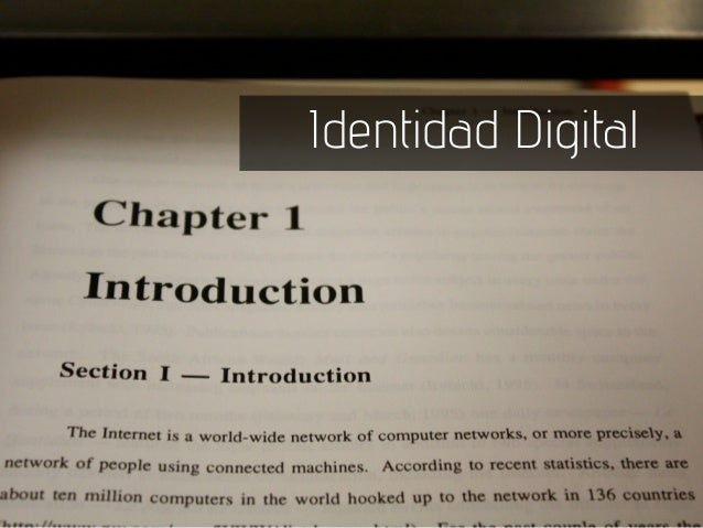 Identidad Digital y jóvenes
