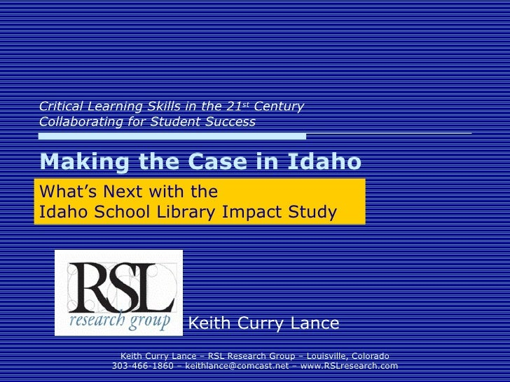 Making the Case in Idaho