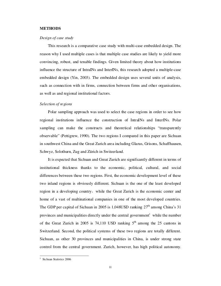 comparative case study