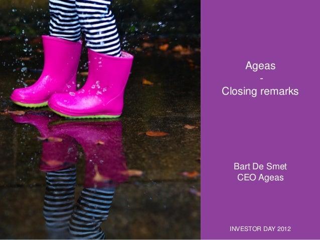 Investor Day 2012 - Closing Remarks