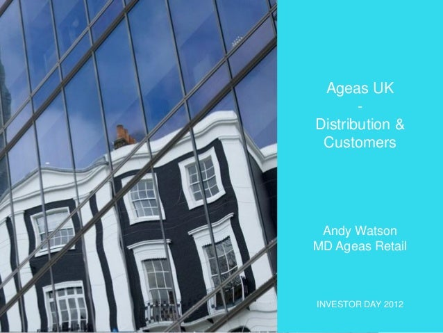 Investor Day 2012 - Distribution and Customers