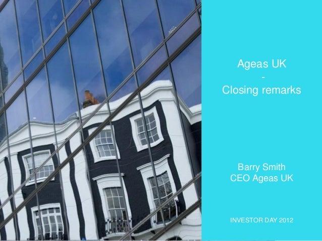 Investor Day 2012 - Closing Remarks Ageas UK