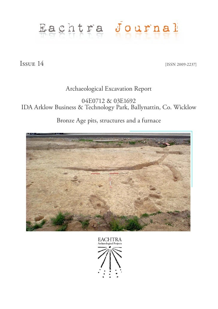 Archaeological Report - IDA Arklow Business & Technology Park, Ballynattin, Co. Wicklow