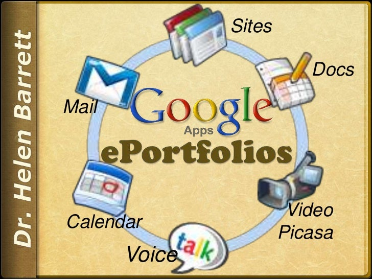 Sites<br />Docs<br />Mail<br />ePortfolios<br />Dr. Helen Barrett<br />Video<br />Picasa<br />Calendar<br />Voice<br />