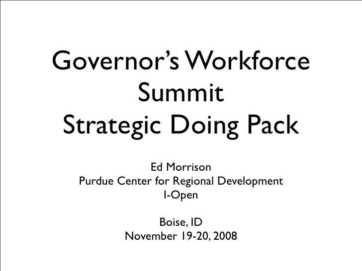 Idaho Strategic Doing Pack